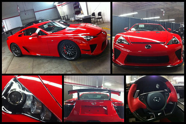 Red Lexus LFA Nürburgring Edition