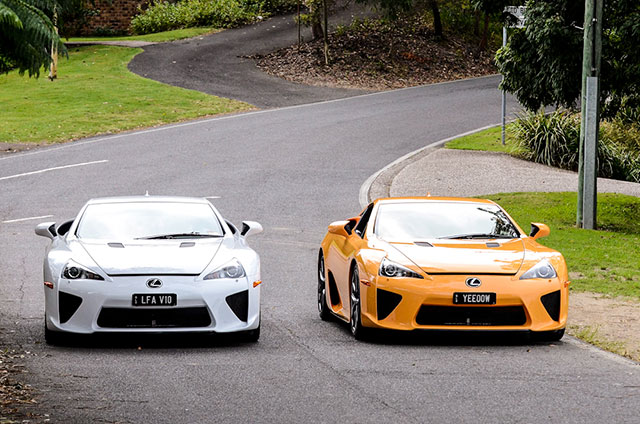 Two Lexus LFAs Together 2