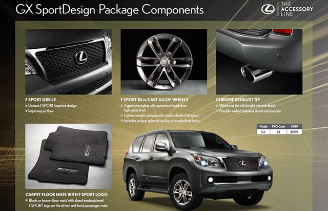 Lexus GX SportDesign Package