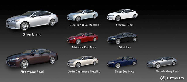 Lexus ES Exterior Colors