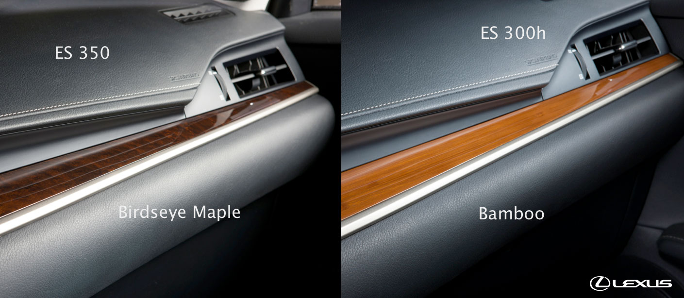lexus es interior trim options