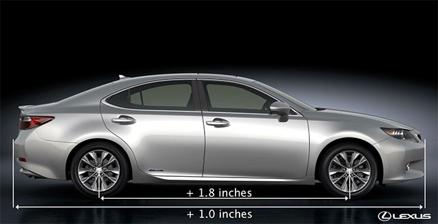 Lexus ES Size Increase