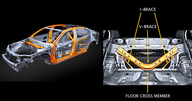 Lexus ES High-Tensile-Strength Steel & Rear subframe
