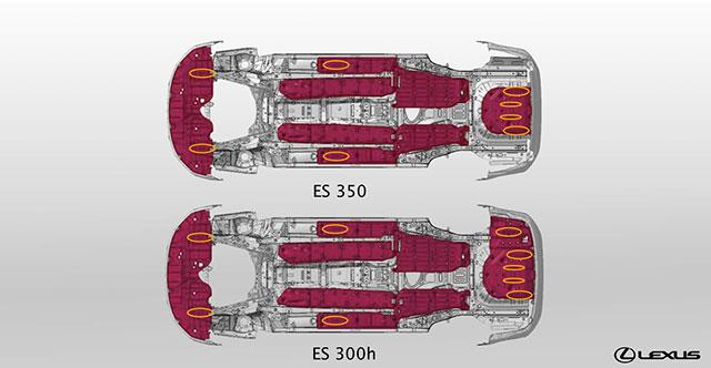 Lexus ES Under Panel Fins