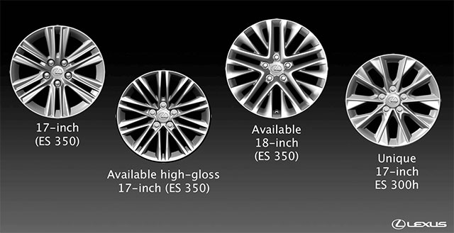 Lexus ES Wheel Options