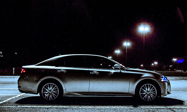 2013 Lexus GS 350 at Night