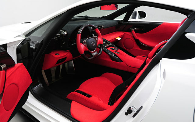 #296 Lexus LFA Red Interior 1