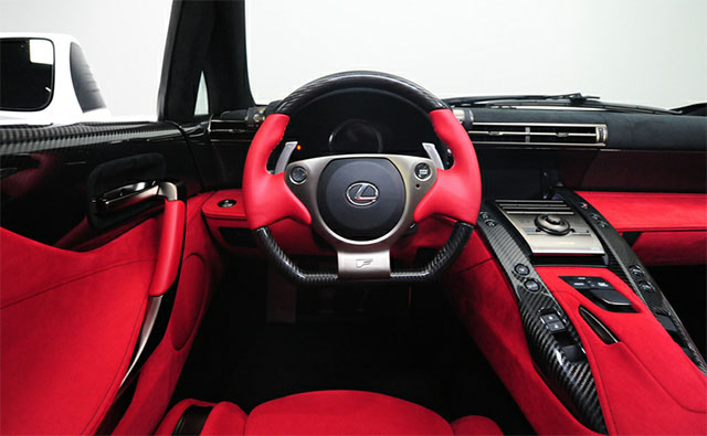 #296 Lexus LFA Red Interior 2
