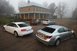 Lexus GS 250 vs Audi A6 2.0 vs. BMW 520i vs. Mercedes E200