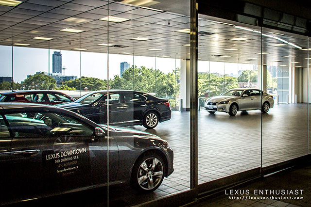 Lexus Downtown Delivery Area Inside