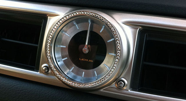 Lexus GS LX Mode Bedazzled Clock
