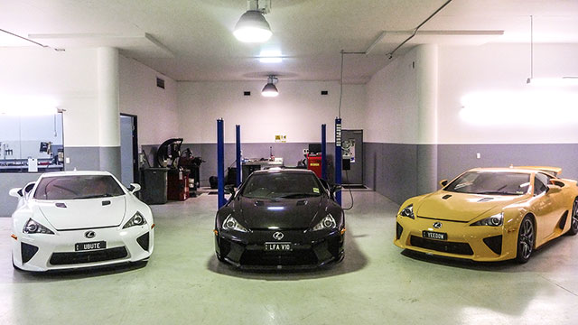Three Lexus LFAs in Australia