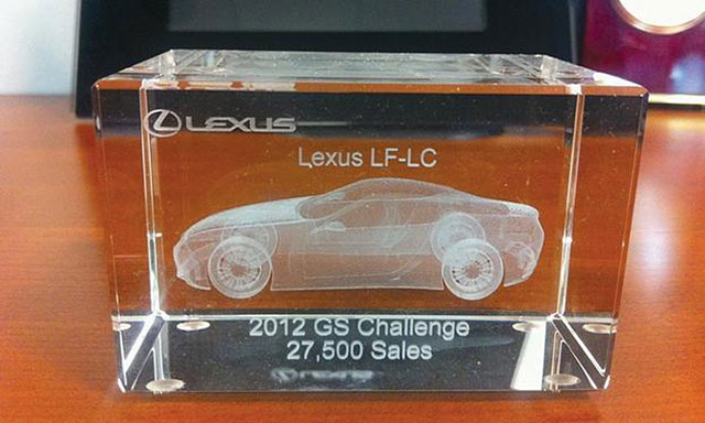 Lexus LF-LC Laser Cut Sculpture