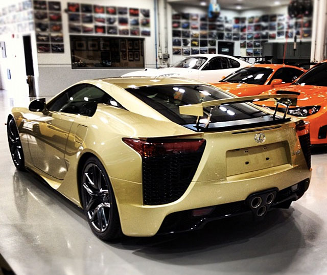 Crystal Gold Lexus LFA Rear