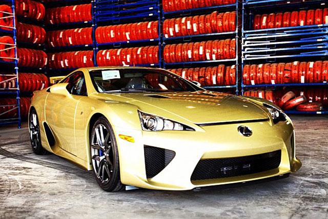 Crystal Gold Lexus LFA Front
