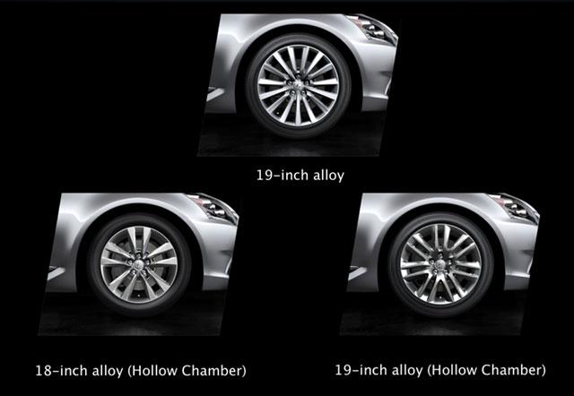 2013 Lexus LS Wheel Options