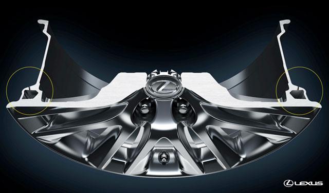 2013 Lexus LS Hollow Wheel Design