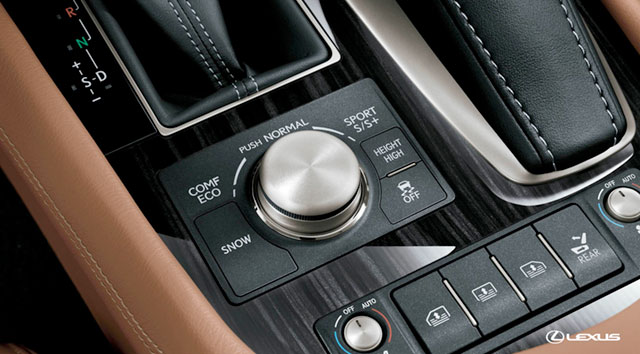 2013 Lexus LS Air Suspension Drive Mode Select