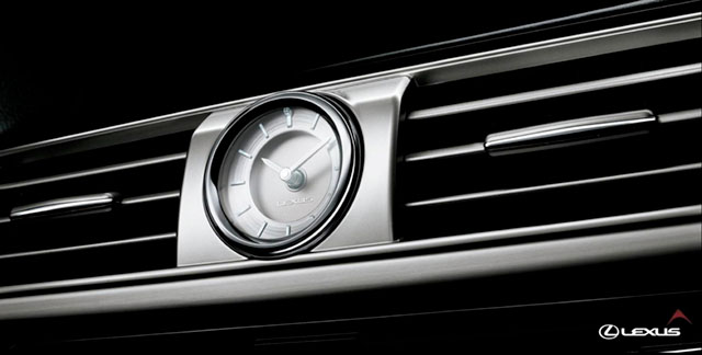 2013 Lexus LS Analog Clock