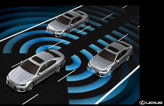 2013 Lexus LS Blind Spot Monitor