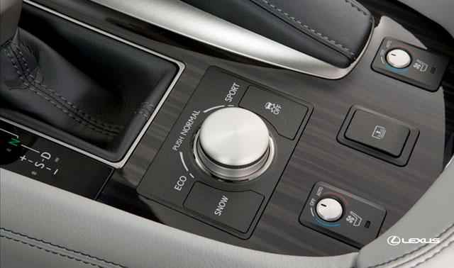 2013 Lexus LS Coil Suspension Drive Mode Select