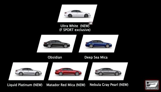 2013 Lexus LS F SPORT Colors