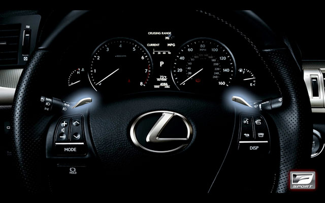 2013 Lexus LS F SPORT Paddle Shifts
