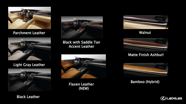 2013 Lexus LS Interior Color Options