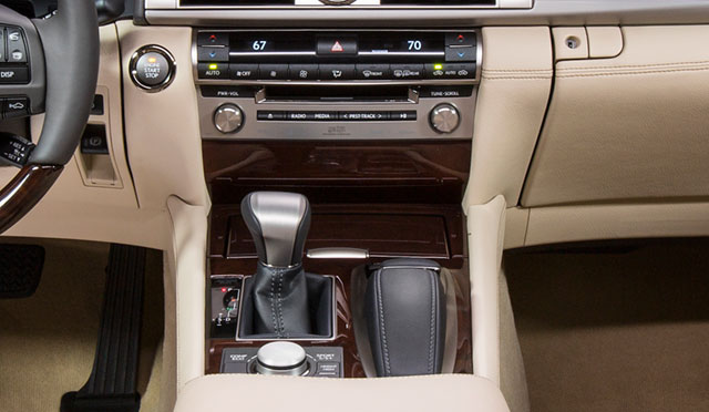 2013 Lexus LS Interior Operation Zone