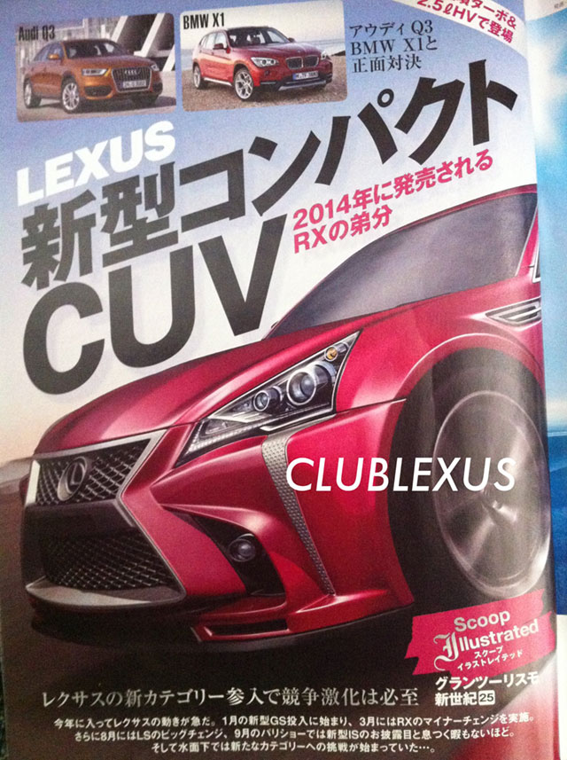 2013 Lexus Compact Crossover