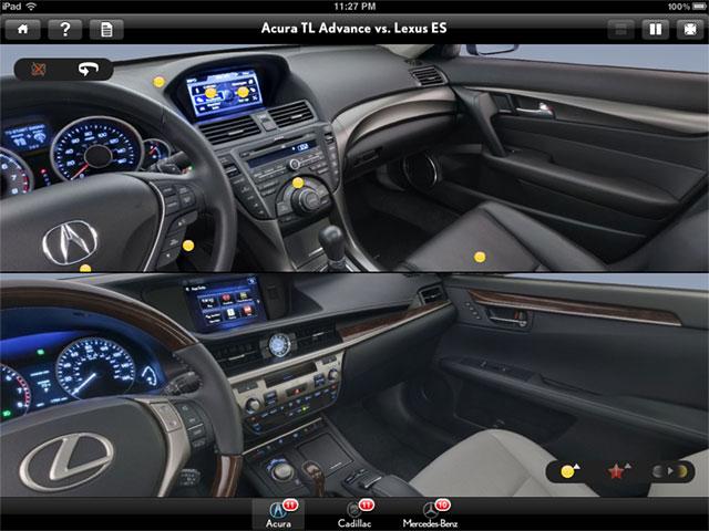 2013 Lexus ES 350 vs Acura TL