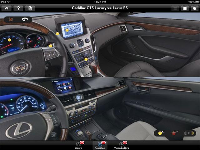 2013 Lexus ES 350 vs Cadillac CTS