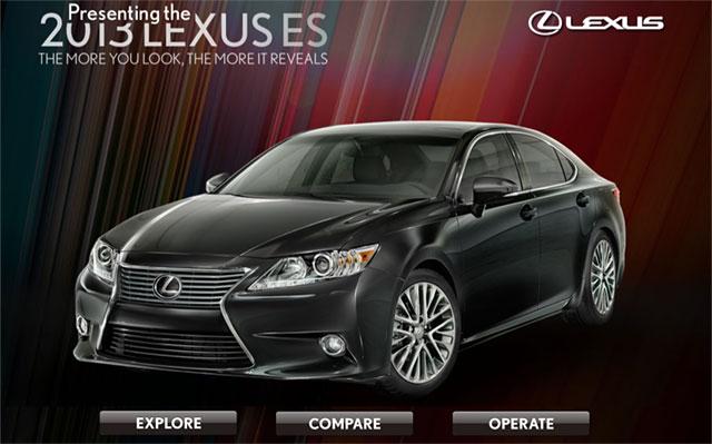 2013 Lexus ES 350 iPad App