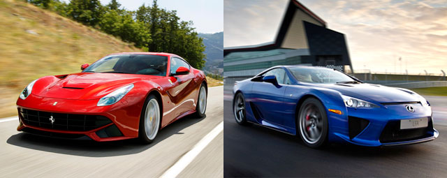 Lexus LFA vs. Ferrari Berlinetta