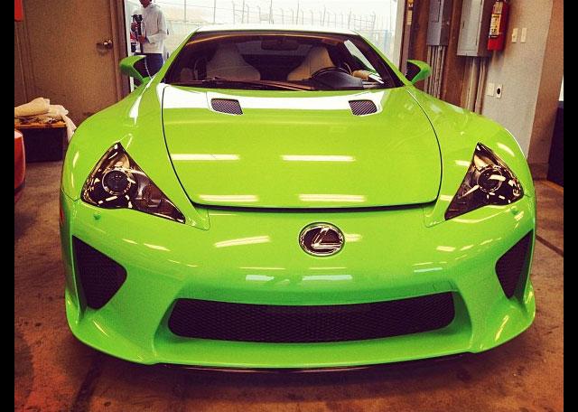 2013 Lexus LFA in Lime Green