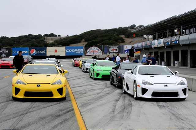 Lexus LFA Owners Event at Laguna Seca