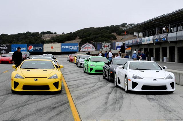 Lexus LFA Owners Event at Laguna Seca