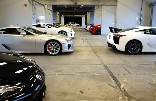 Lexus LFAs in a row