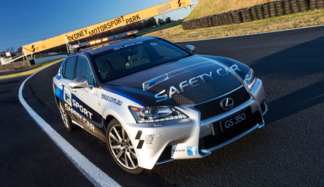 Lexus GS Safety Car in Australia