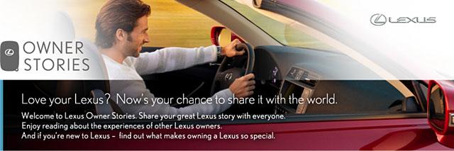 Lexus Owner Stories