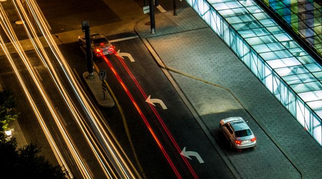 Lexus GS at Night
