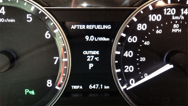 2013 Lexus GS Gas Gauge
