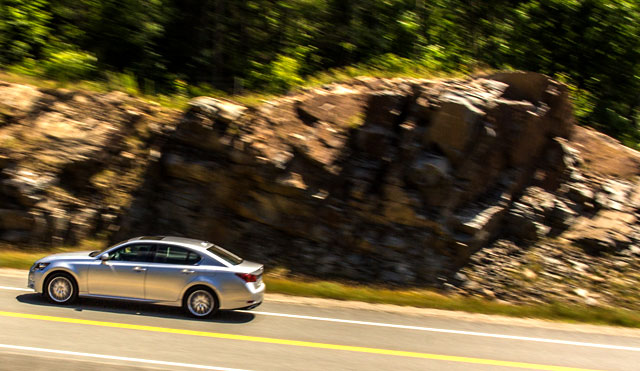 2013 Lexus GS Mountains