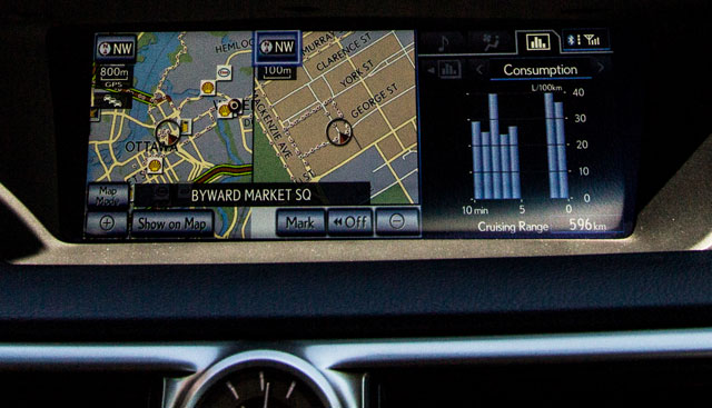 Lexus GS Split Map View