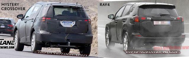 Lexus Crossover vs Rav4 Rear