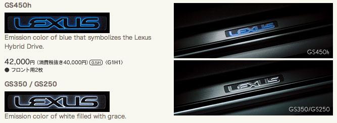 Lexus GS Illuminated Door Sills