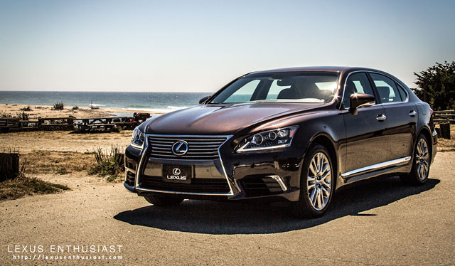 Lexus LS 600hL at the Beach