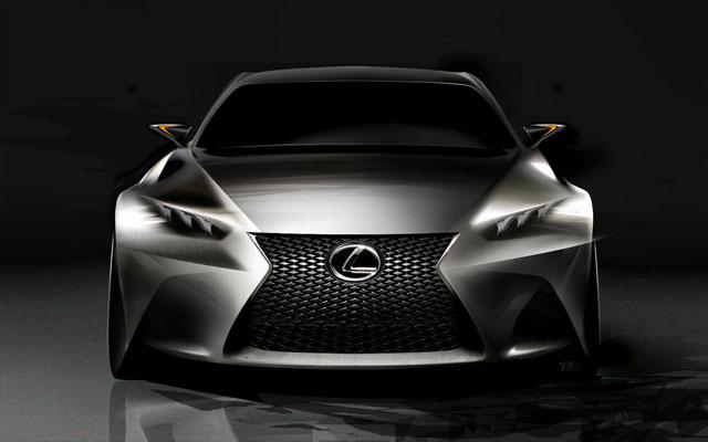 Lexus LF-CC Concept Front Sketch