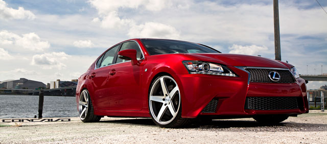 Lexus GS F SPORT with Concavo Wheels