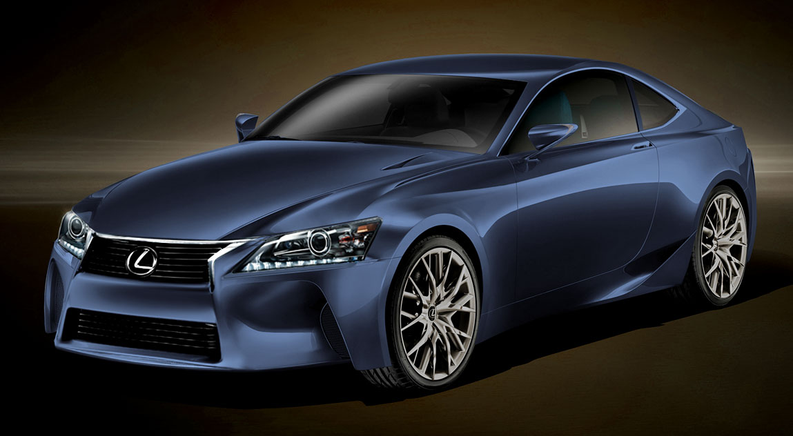 Next-Generation Lexus IS in Blue